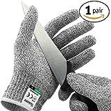 Paire de gants anti coupures Twinzee® - Protection de niveau 5 conforme à la norme EN 388 - Qualité alimentaire pour utilisation dans votre cuisine (Small)