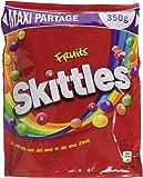 SKITTLES Bonbons Dragéifiés Fruits en Pochon XL 350 g - Lot de 5
