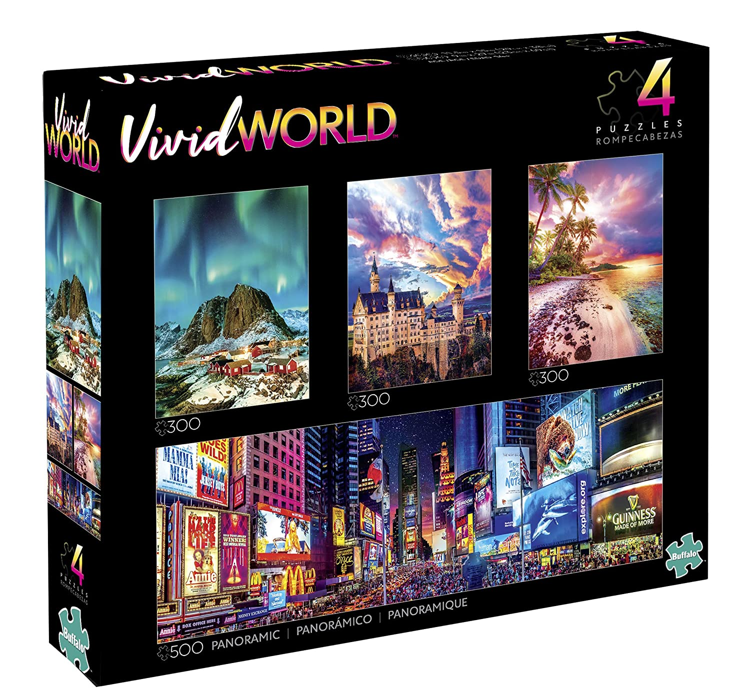 Buffalo Games 4-in-1 Vivid World Jigsaw Puzzle Multipack