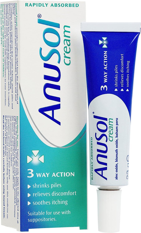 Amazon.com: Anusol Haemorrhoids (Piles) Treatment Cream - 23g: Health &  Personal Care