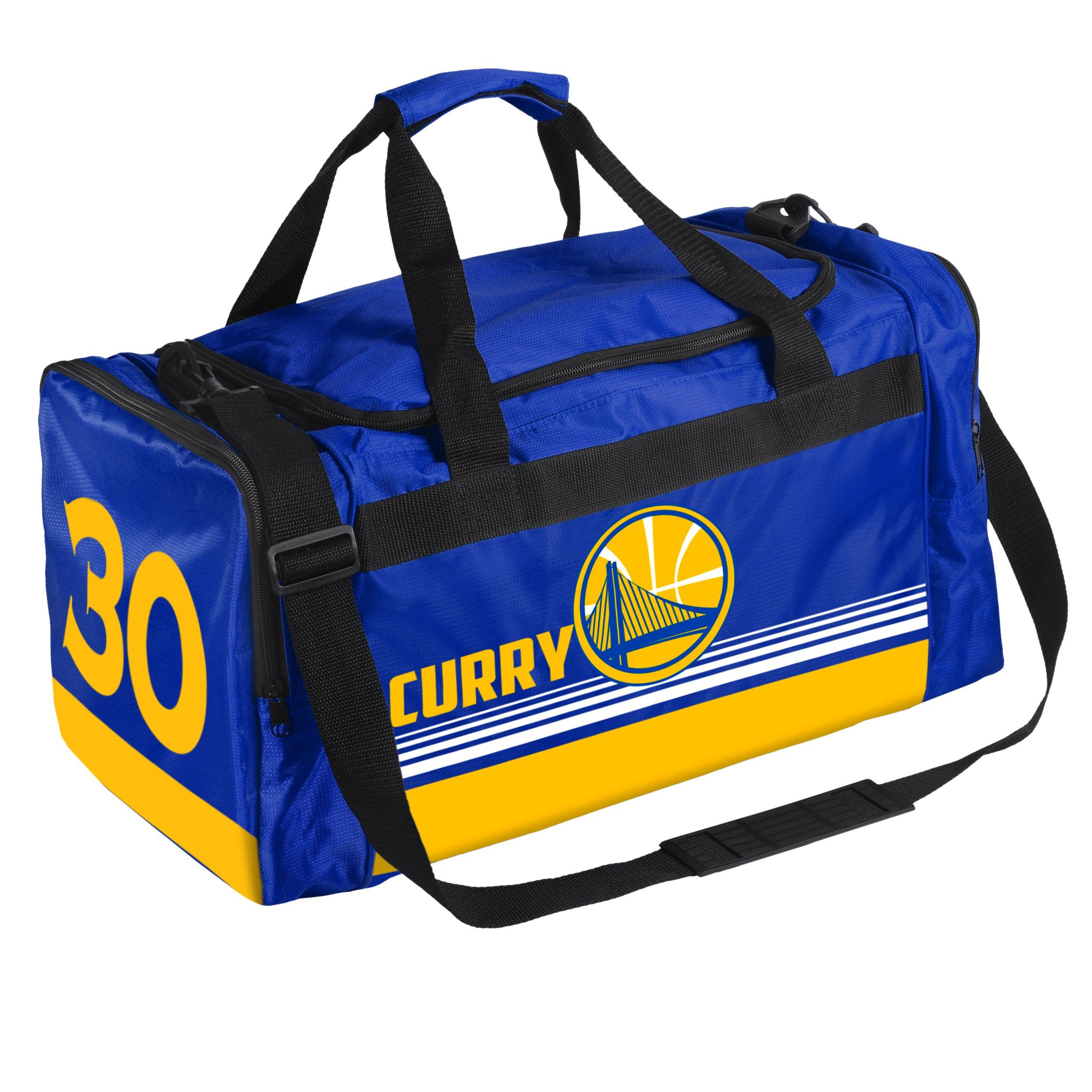 FOCO Golden State Warriors Curry S. #30 Medium Striped Core Duffle Bag