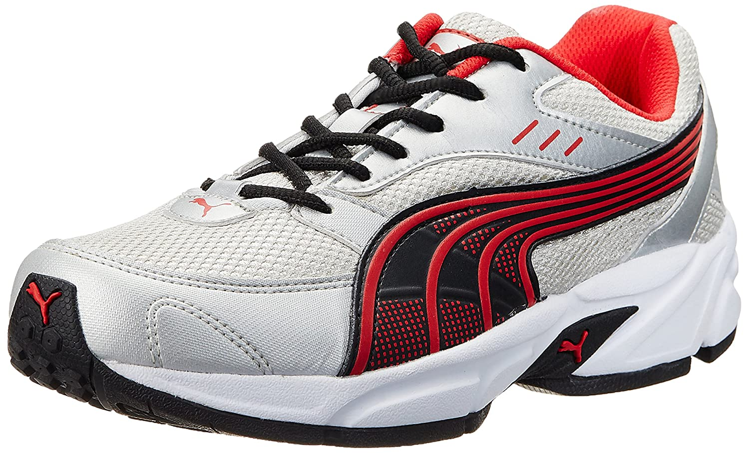 Puma Men's Pluto DP White-Black-High Risk Red Running Shoes - 8 UK/India  (42 EU): Buy Online at Low Prices in India - Amazon.in