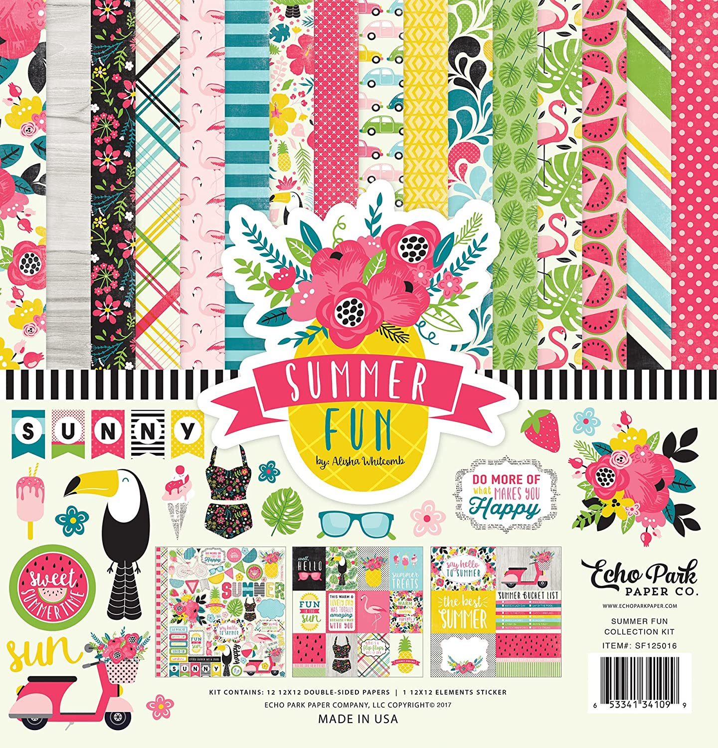 Echo Park Paper Company Summer DreamsCollection Scrapbooking Kit