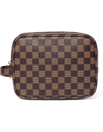 e44a6326970f Daisy Rose Luxury Checkered Make Up Bag