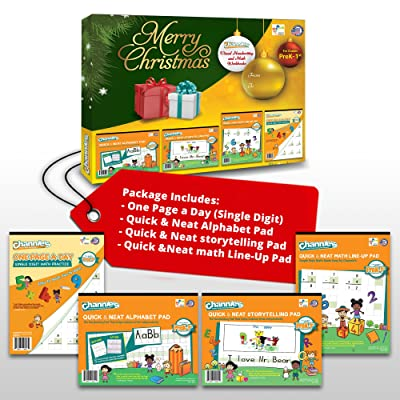 Channie's Super Bundle Christmas gift set for fun handwriting & math learning!: Office Products