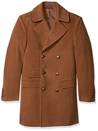 6dc1c5d95f804 STACY ADAMS Men s Big and Tall Big   Tall Tomy Double Breasted 36 Inch  Topcoat