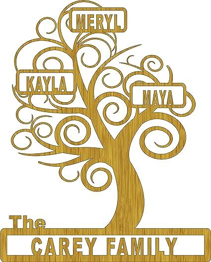 Personalized Family Tree Scroll Saw Pattern - - Amazon.com