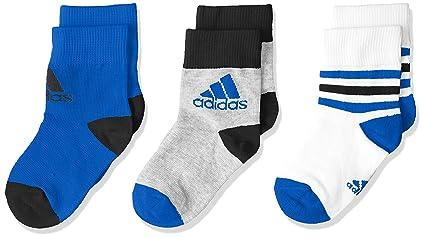 Adidas LK Ankle S 3PP Calcetines, Unisex bebé, (Blanco/Azul/Brgrin
