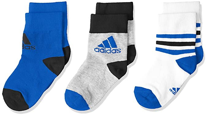 6a2267d0ed Amazon.com: Adidas Kids Boys Ankle Socks 3 Pairs CV7156 New: Clothing