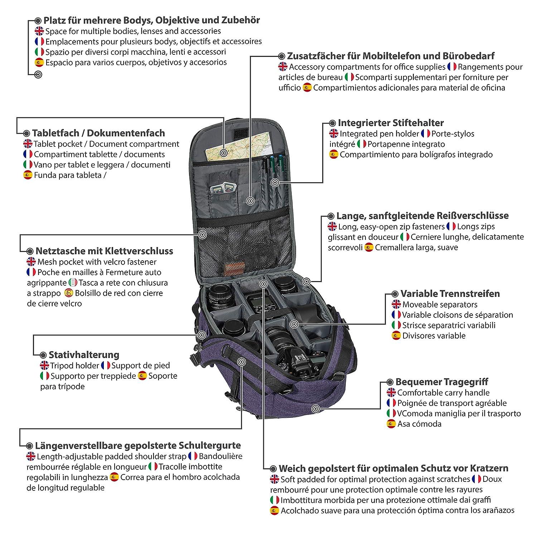 Pedea - Mochila para cámara réflex con protector de pantalla para ...