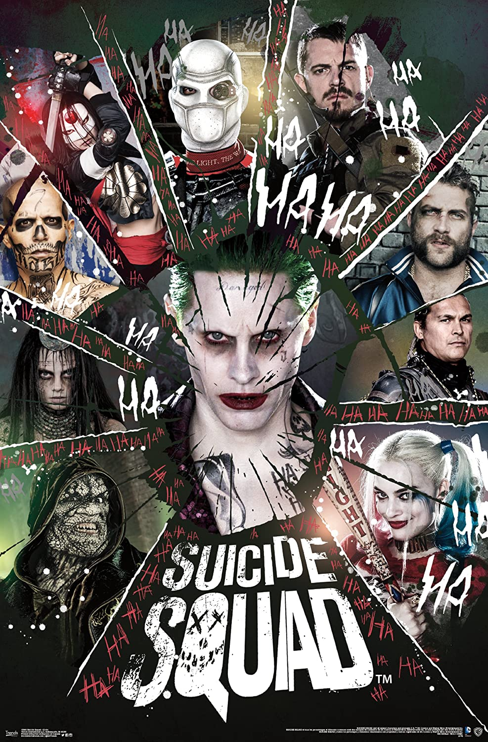 """Trends International Suicide Squad Circle Wall Poster 22.375"""" x 34"""""""