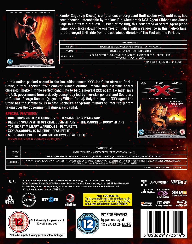 XXX: 2 Movie Collection Region Free Reino Unido Blu-ray: Amazon.es: Cine y Series TV