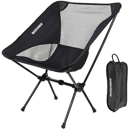 MARCHWAY Silla de Camping Plegable Ultraligera, portátil ...