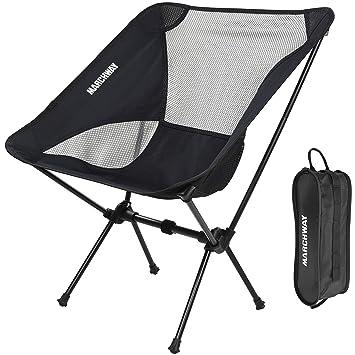 Amazon.com: MARCHWAY silla de camping ultraligera. Compacta ...