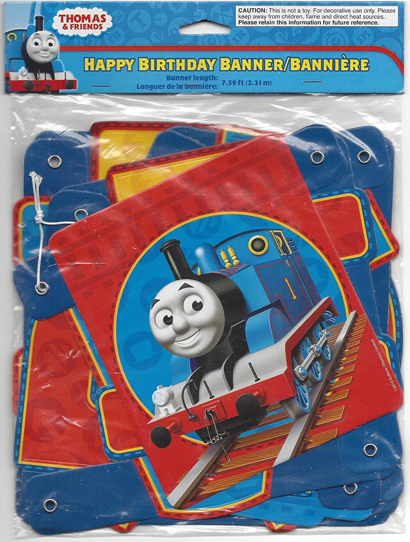 Amazon.com: Thomas el Tren Feliz cumpleaños Banner 7.59 ft ...