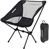 MARCHWAY Ultralight Folding Camping Chair, Portable Compact for Outdoor Camp, Travel, Beach, Picnic, Festival, Hiking, Lightw