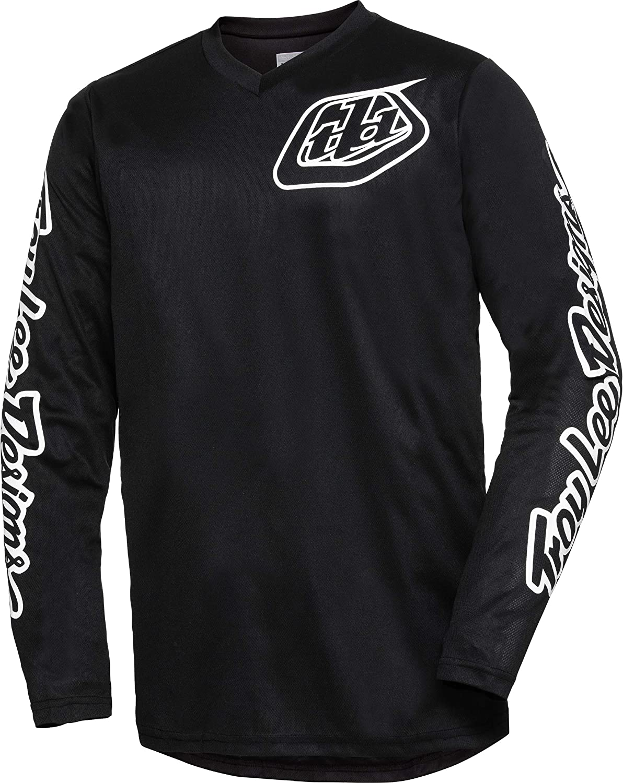 Troy Lee Designs GP Mono Mens Off-Road Motorcycle Jersey Black//Large