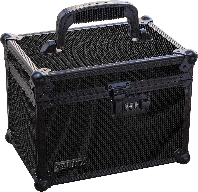 Vaultz Locking Field Box with Tether, Tactical Black (VZ03490-1)
