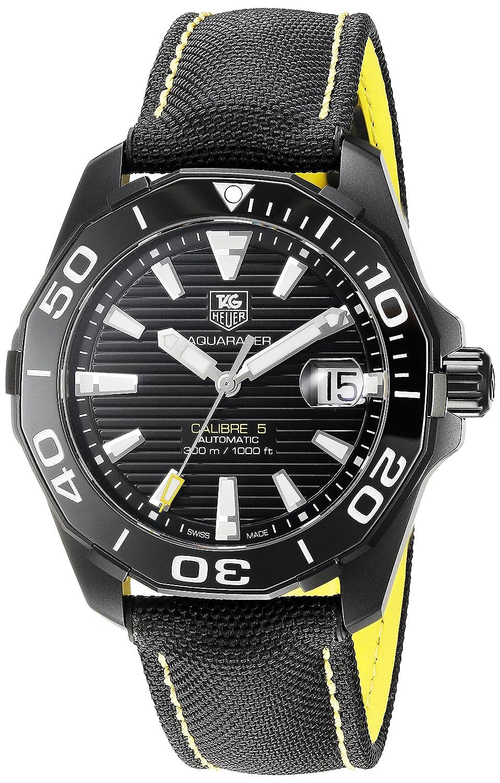 Tag Heuer Aquaracer Black Dial Automatic Mens Watch WAY218A.FC6362