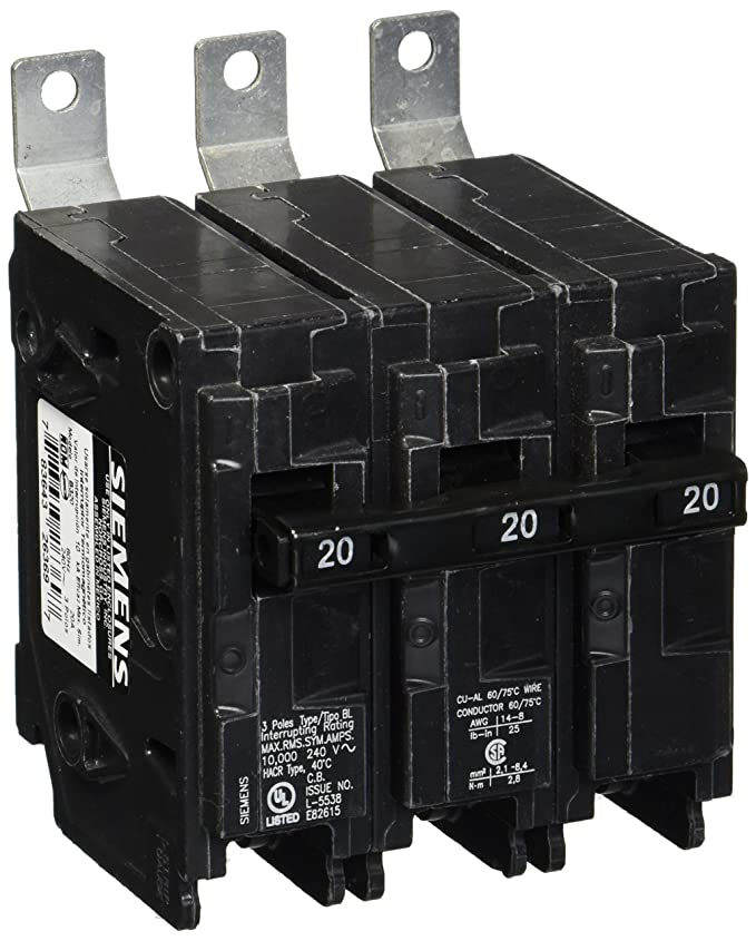 Siemens B320 20-Amp Three Pole 240-Volt 10KAIC Bolt in Breaker