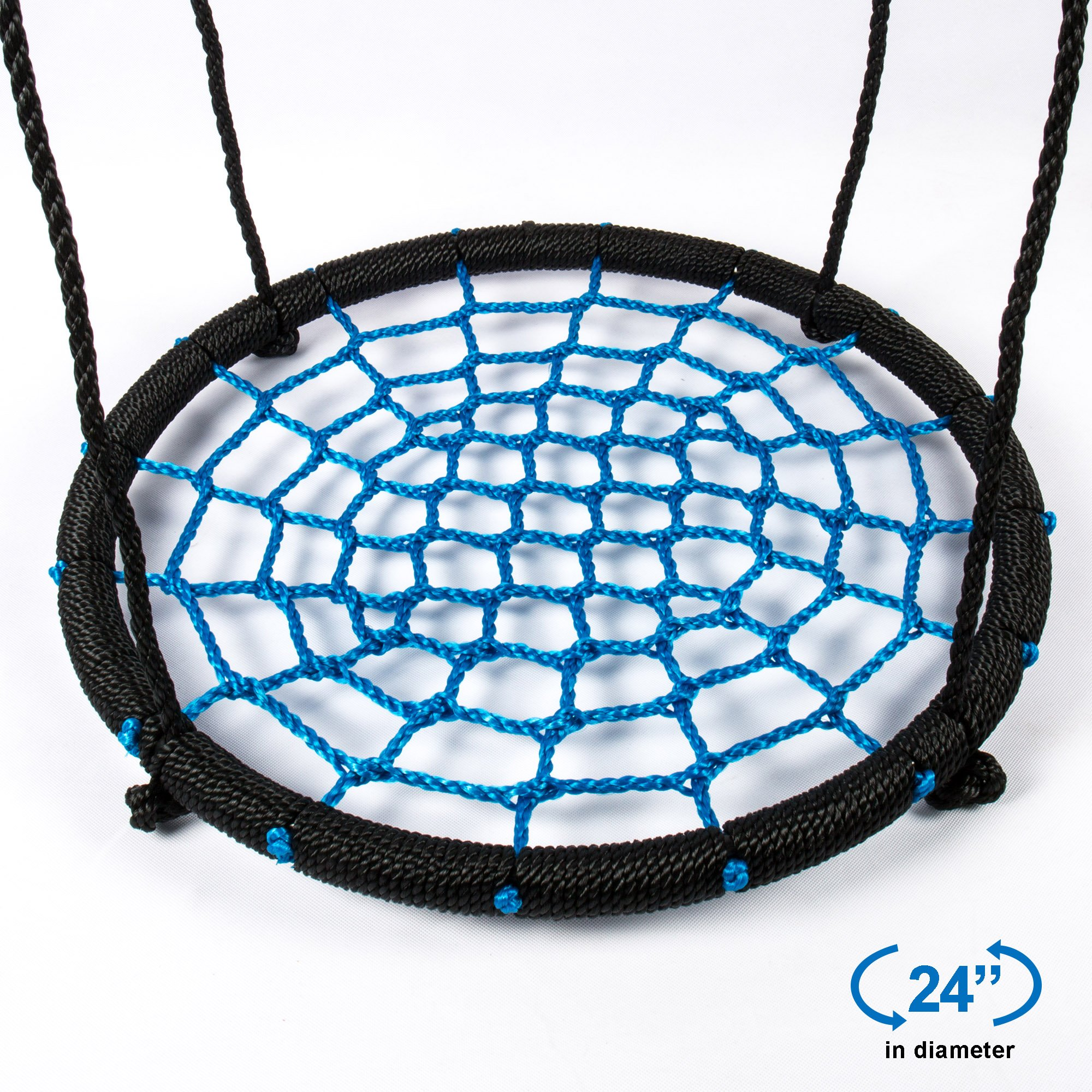 Tree Swing Spider Web - 24 Inch Diameter,220 lb Weight Capacity, Great for Playground, Tree, Outdoor Use Easy to Install and Non-Stop Fun for Kids by RESTAR (Image #7)