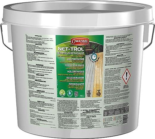 Owatrol Net-Trol - Madera - Desengrasante para Maderas Tropicales - Limpiador de Piedra, Cemento, plástico. - Aceite - 15 litres: Amazon.es: Hogar