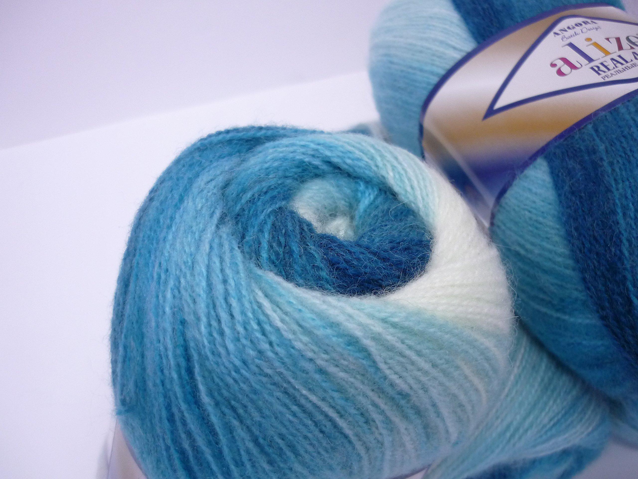 Blue ocean 100g Alize Angora Real Batik,