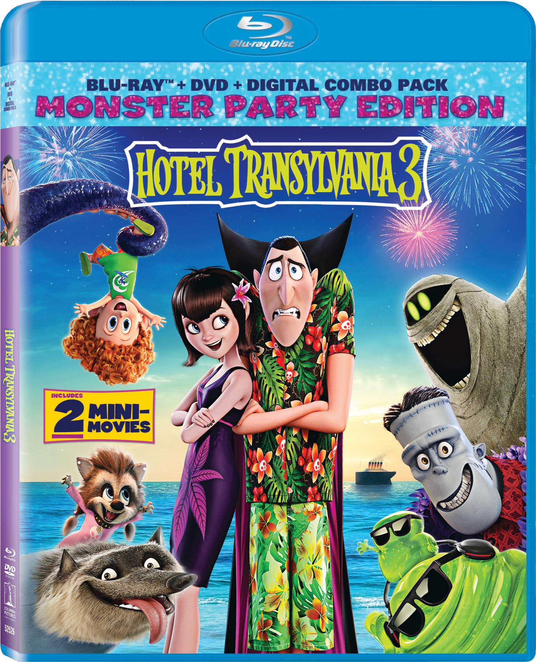 Blu-ray : Hotel Transylvania 3: Summer Vacation (With DVD, Digital Copy, 2 Pack)