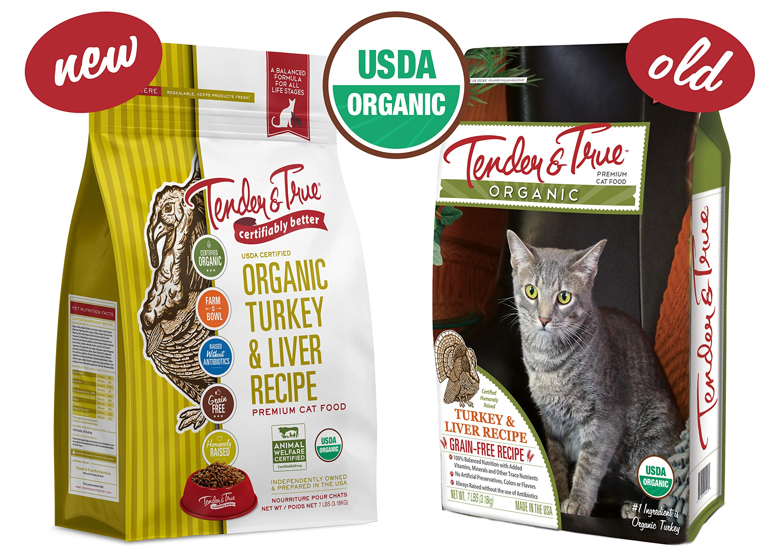 Tender & True Organic Turkey & Liver Recipe Cat Food, 7 lb by Tender & True Pet Nutrition