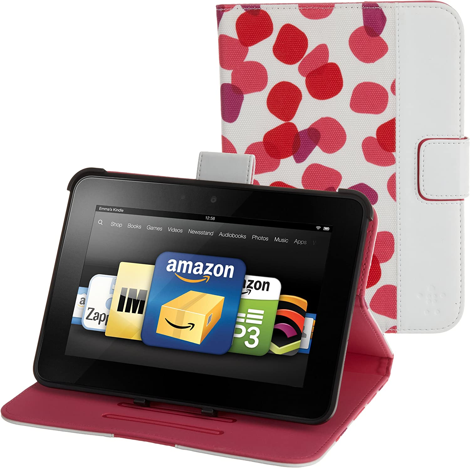 Topaz Belkin Petals Standing Cover for Kindle Fire HD 7 will only fit Kindle Fire HD 7
