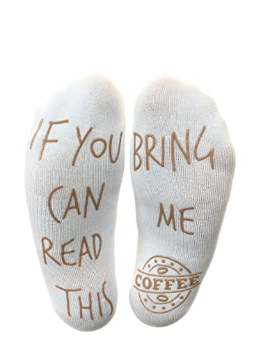 'If You Can Read This Bring Me Coffee' Funny Socks - Perfect Gift For Those People That Love Coffee