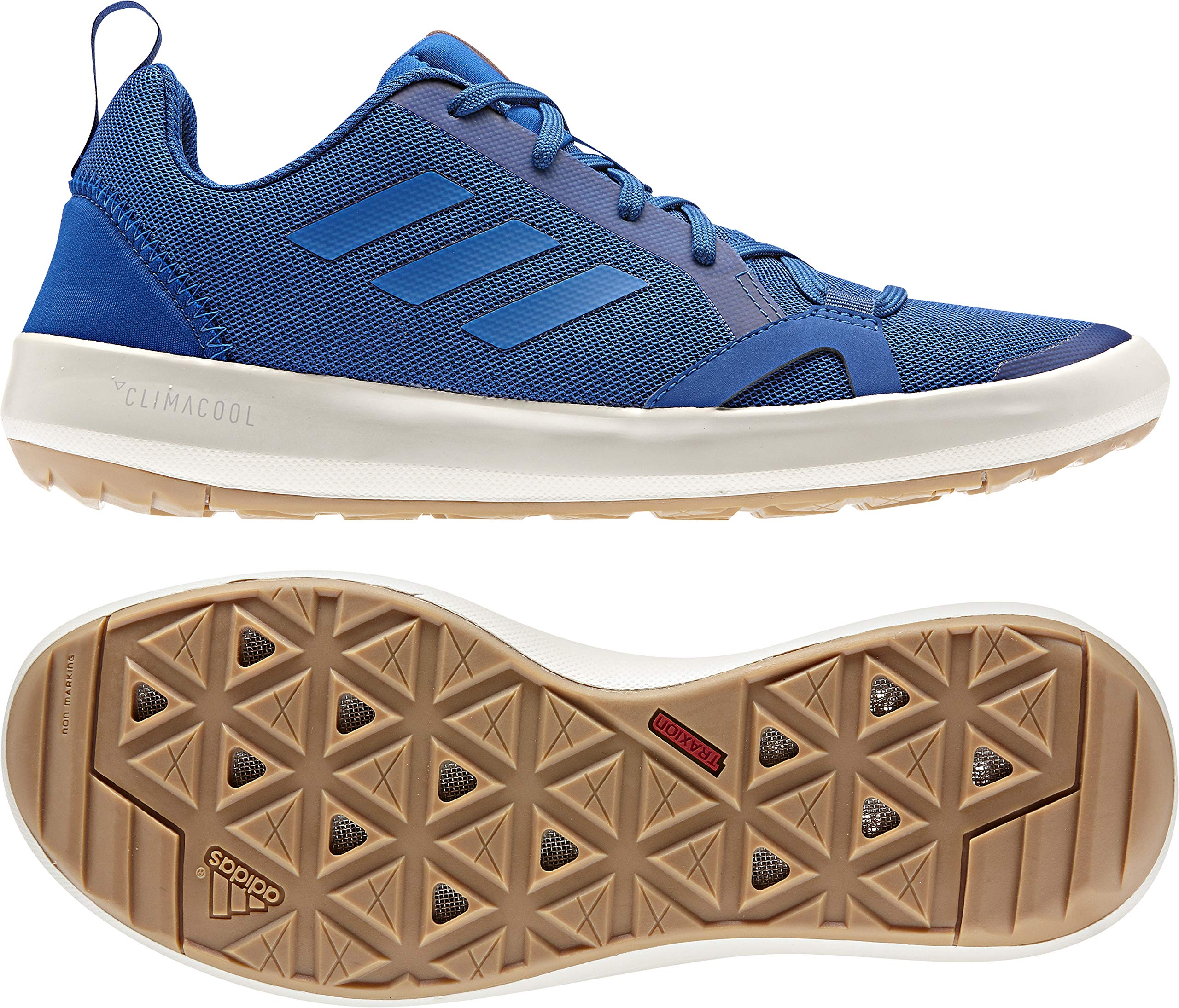 Adidas Terrex CC Boat Shoe - Men's Blue Beauty/Blue Beauty/Chalk White 6.5