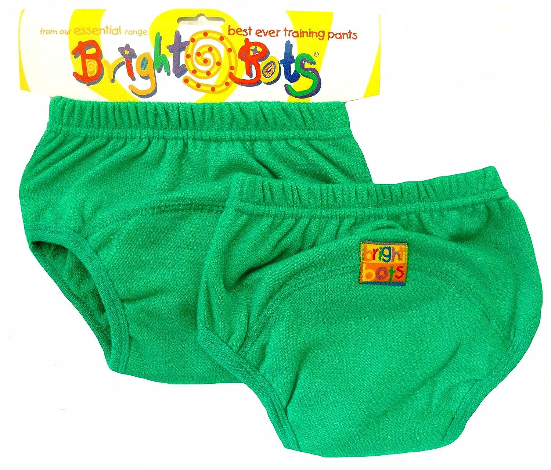 Bright Bots - Mutandine di apprendimento, confezione doppia, Large, 24-30 mesi, colore: Verde 2AAETRA1-2GL