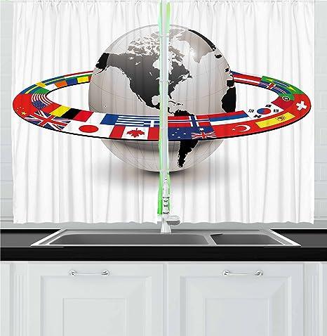 World By Ambesonne Pianeta Terra Con Orbit Realizzato In Nazionale