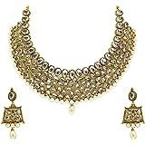 Zaveri Pearls Kundan Necklace Set For Women - ZPFK4296