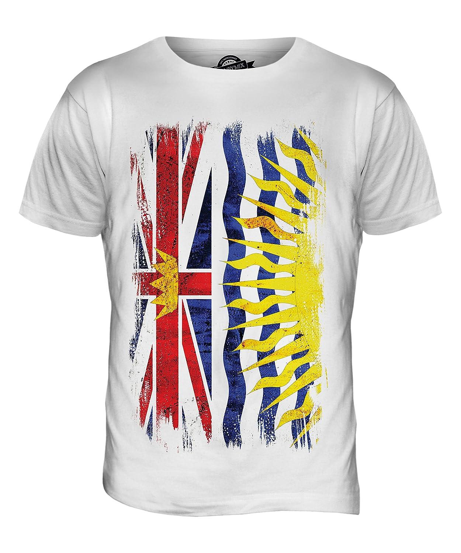 CandyMix Men's British Columbia Grunge Flag T Shirt T-Shirt Top