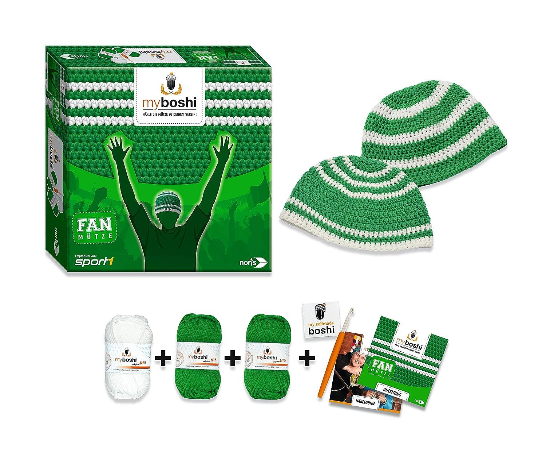 Noris Spiele 606311348 My Boshi Fan Mütze In Den Vereinsfarben Grün
