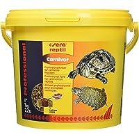 sera reptil Professional Carnivor ein schwimmendes Futter für Fleisch fressenden Reptilien wie Wasserschildkröten - im hochfunktionalen Coextrusionsverfahren hergestelltes zweifarbiges Granulat