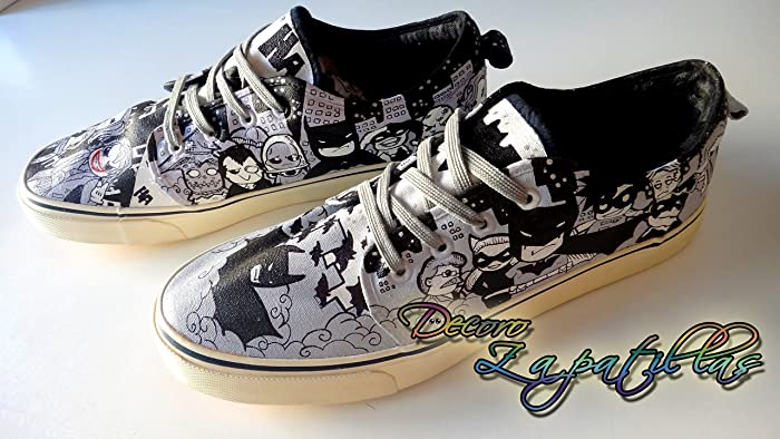 Zapatillas customizadas personalizados lona Batman, regalos para cumpleaños - celebraciones - regalos hombre - regalos