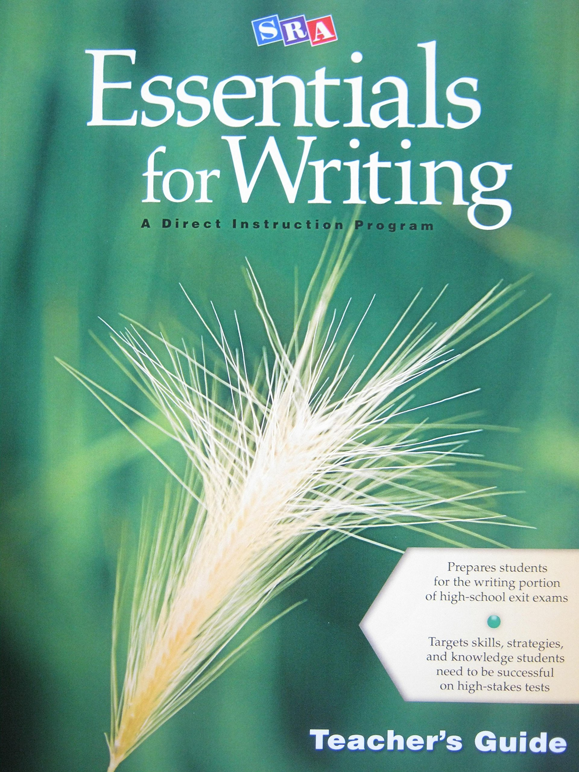 Sra Essentials For Writing Teachers Guide Bonnie Grossen Siegfried