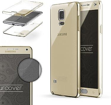 Urcover Funda Compatible con Samsung Galaxy Note 4, Carcasa Protectora 360 Grados Silicona Gel en Transparente Full Body Protección Completa Delantera/Trasera: Amazon.es: Electrónica
