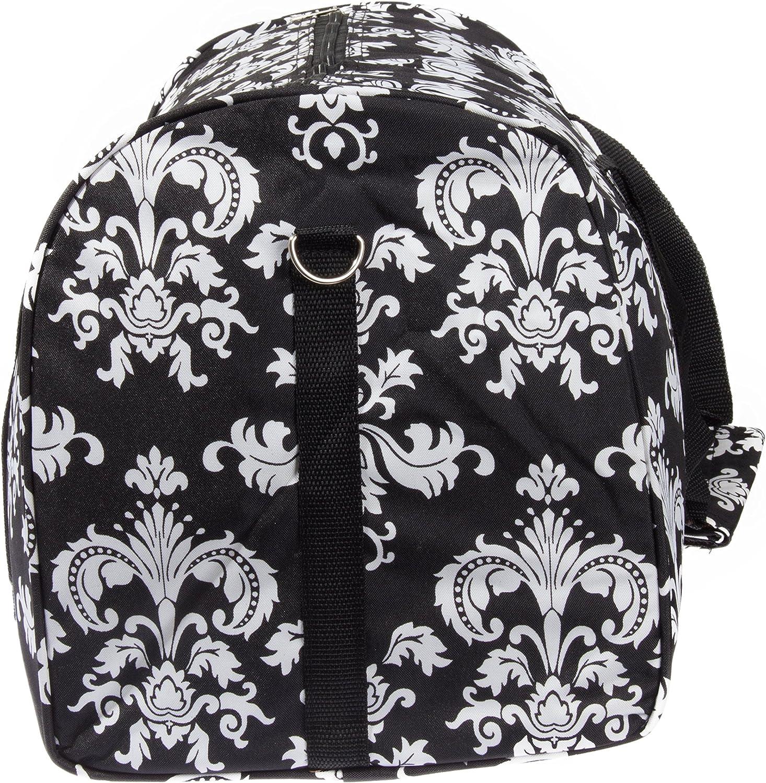 Damask ll Print 22 Luggage Duffle Bag Black /& White