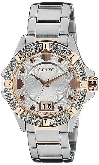 Seiko – sur804p1 – Reloj Mujer – Cuarzo Analógico – Esfera gris – Pulsera ...