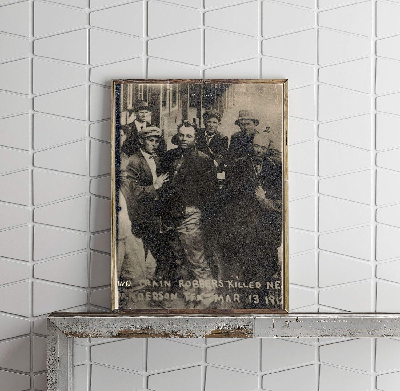 INFINITE PHOTOGRAPHS 1912 Photo: Train Robbers   Sanderson, Texas   Ole Hobek   Ben Kilpatrick   Vintage Photo Reproduction