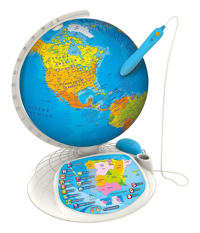 Clementoni Explora El Mundo-Globo Interactivo Premium, Multicolor (55247) (Versión en castellano): Amazon.es: Juguetes y juegos