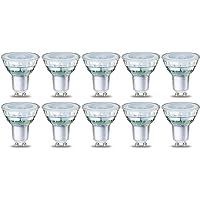 AmazonBasics Spot LED type GU10, 3.5W (équivalent ampoule incandescente de 35W), verre - Lot de 10