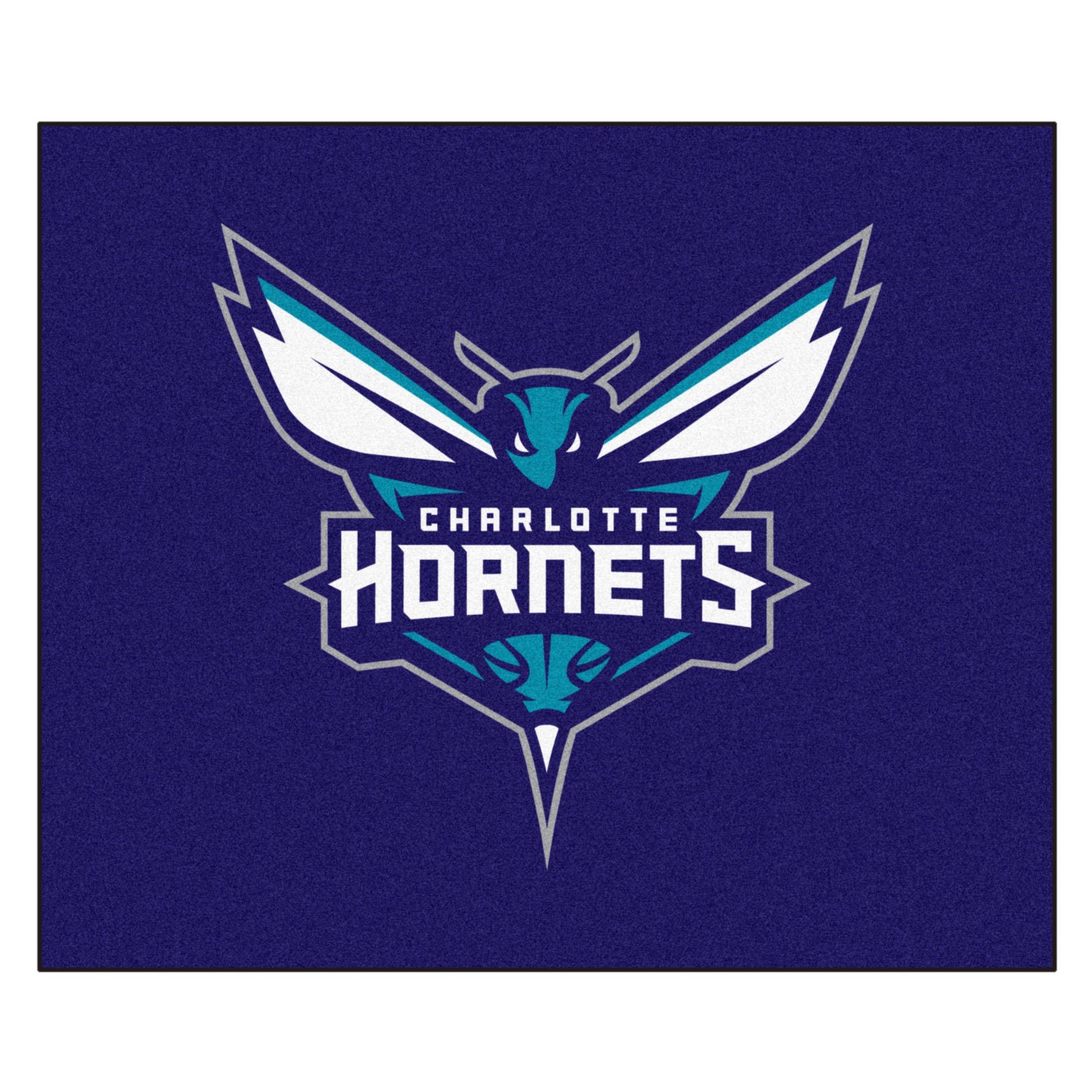 FANMATS 19429 NBA - Charlotte Hornets Tailgater Rug , Team Color, 59.5''x71''