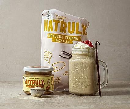 NATRULY Proteína Vegana BIO Vainilla, 78% Proteína, 100% Natural Sin Azúcar, Sin Gluten, Sin Lactosa -350g (antes Natural Athlete)