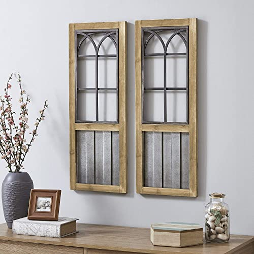 FirsTime Co. Willow Farms Window Wall Plaque Set