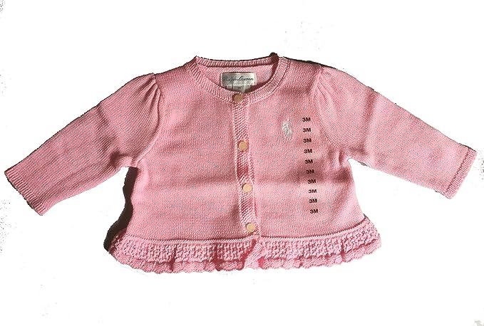 4c37dcfee Amazon.com  Ralph Lauren Baby Girl Ruffled Cotton Peplum Cardigan ...